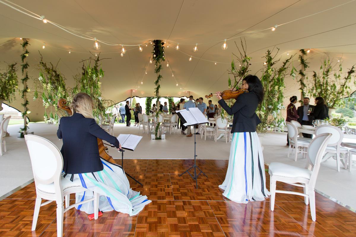 Mariage champêtre concert
